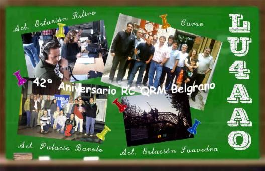 QSL Especial 42° Aniversario del Radio Club QRM Belgrano